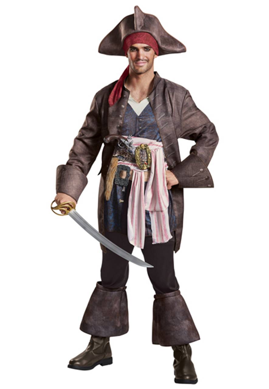 Disney Store Jack Sparrow Pirate Costume /& Hat with Hair Set or separate Sizes