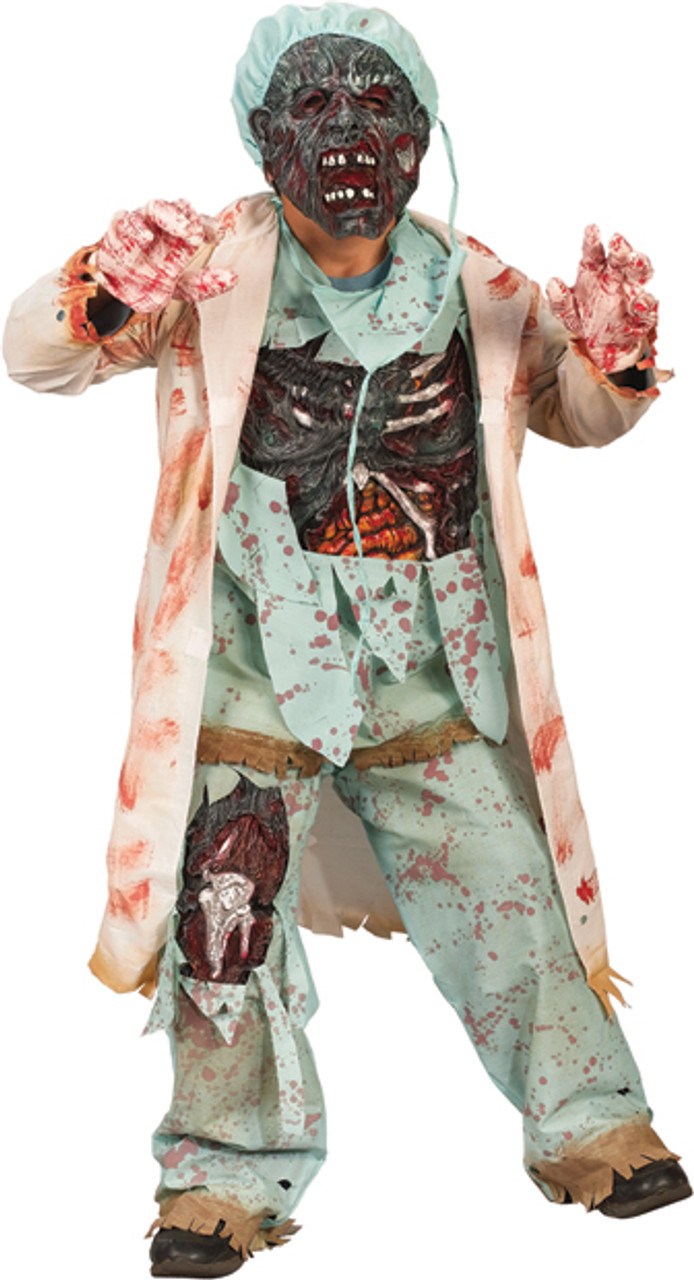 Zombie MD Halloween Horror Latex Face Mask Doctor Fancy Dress Surgeon Accessory