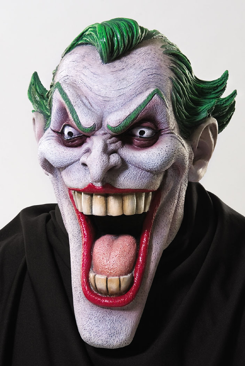 Morris Costumes Joker Latex Mask With Hair RU68168