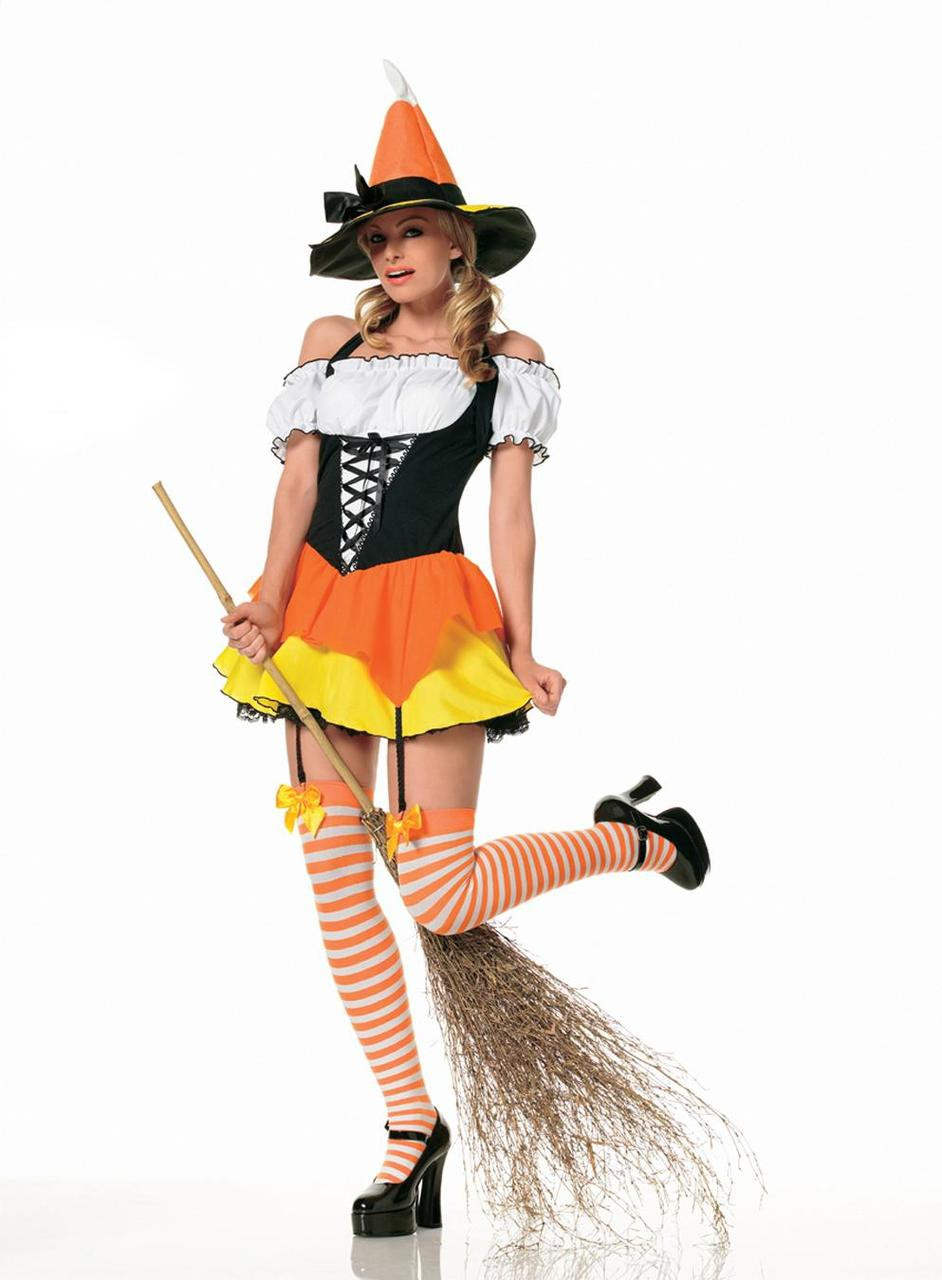 Image result for candy corn witch costume
