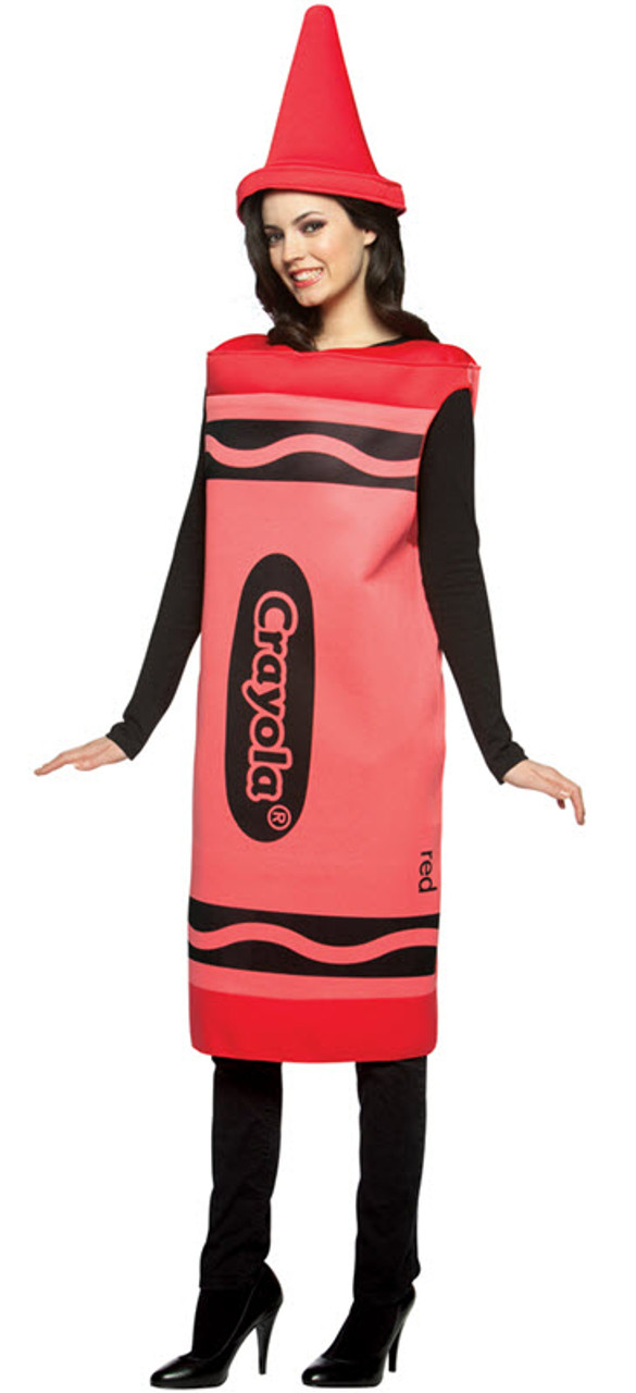 Halloween Costume 303.Adult Red Crayola Crayon Costume