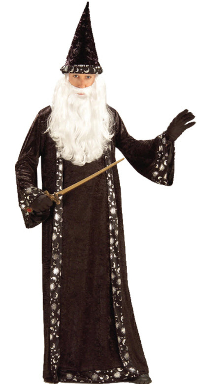 Adult//Child Costume Accessory NEW Wizard Nose with Moustache