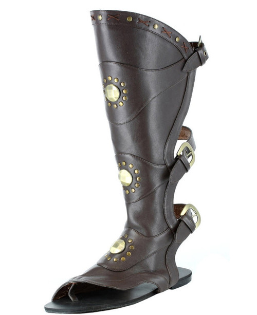Steampunk Boot Top Leg Guards Adult Costume Accessory