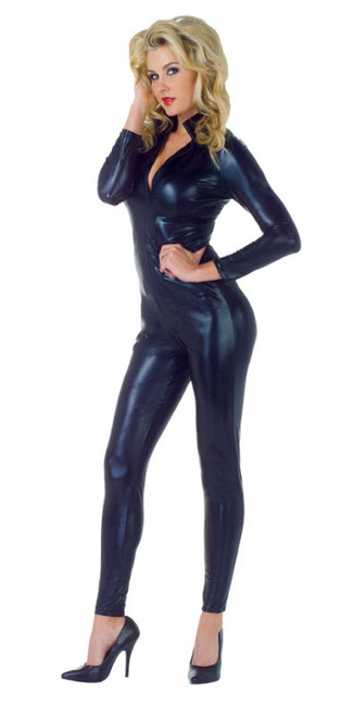 395b6afa96e Women's Wet Look Jumpsuit Costume