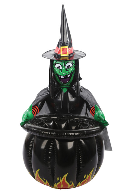"""22/"""" INFLATABLE WITCHES BLACK CAULDRON COOLER HALLOWEEN PARTY DECORATION BG00017"""