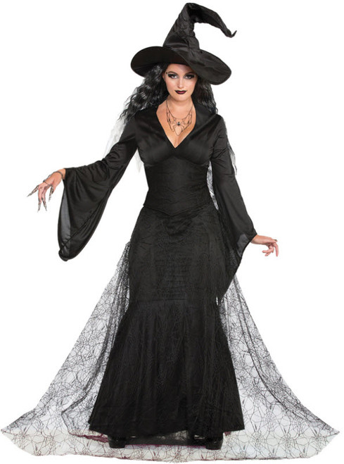 Supply Sexy Witch Gown With Hat Halloween Costume 3786 Women's Clothing Mixed Intimate Items