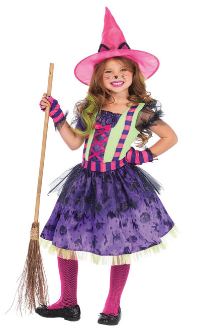 dd5379e65 Girl's Kitty Cat Witch Costume