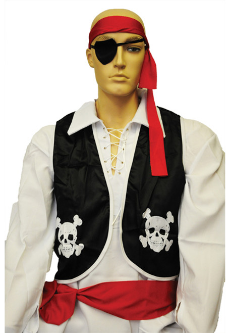 BB239 Morris Costumes New Latex With Skull And Crossbones Design Eye Patch