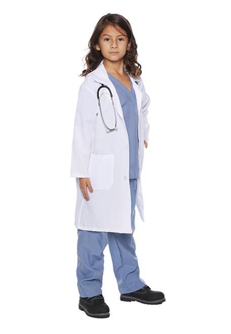 Child S Doctor Scrubs With Lab Coat