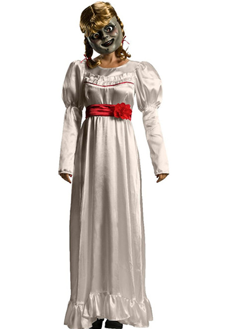 Womens Ladies Halloween Freaky Victorian Ghost Maid Fancy Dress Costume Outfit