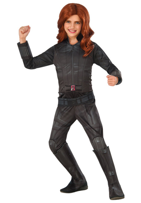 Girl S Deluxe Black Widow Costume