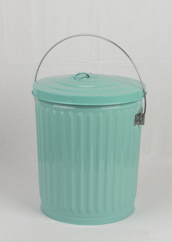 Galvanized Seed Storage Can w/ Lid - 10 Gal