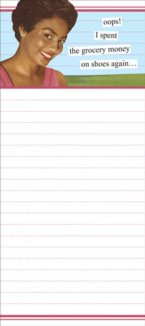 Grocery Money Notepad