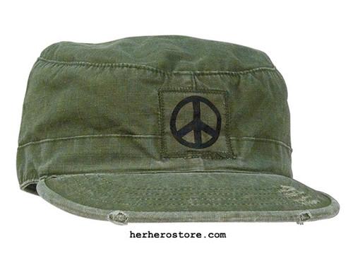Peace Vintage Fatigue Hat