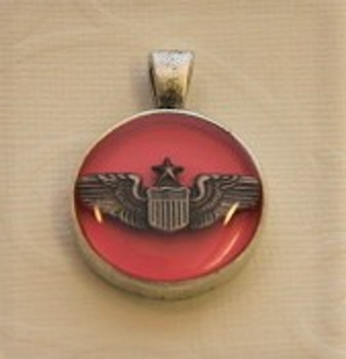 Army Pilot Wings Necklace
