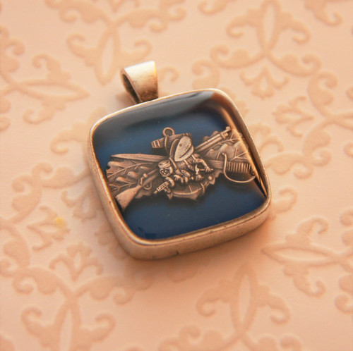 US Navy Seabee Necklace