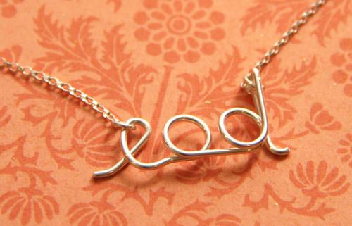 EOD Script Necklace