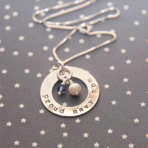 US Navy mom necklace