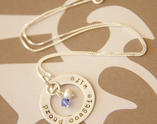 Proud Coast Guard necklace