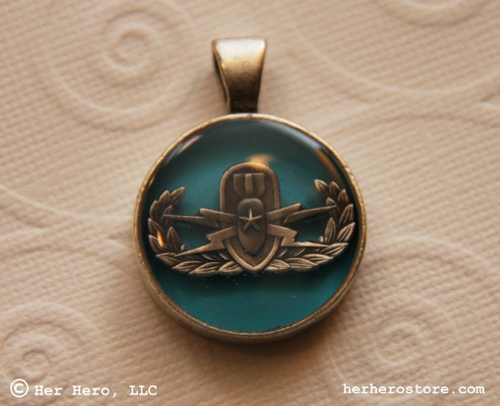 Senior EOD necklace, Tahiti Blue