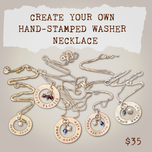 Create your own washer necklace