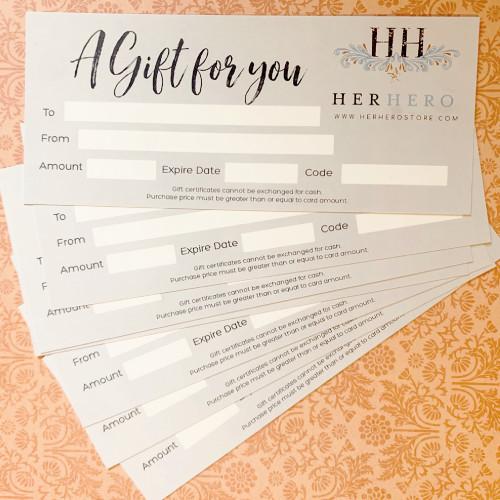 Her Hero Gift Certificate