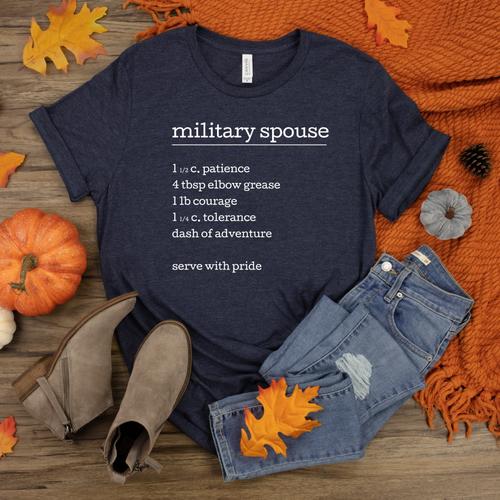 military spouse recipe tshirt