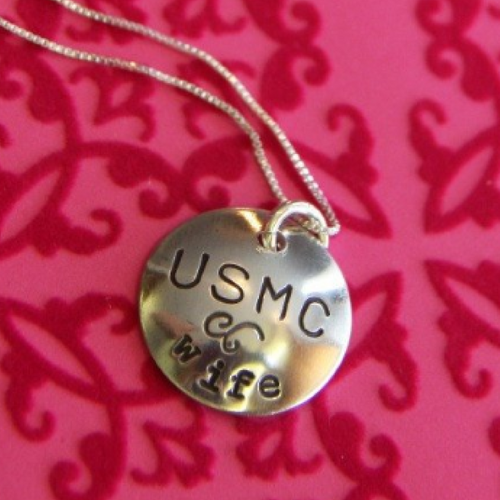 USMC Custom Sweetheart Necklace