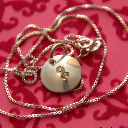 Support Our Troops Dainty Dome Necklace