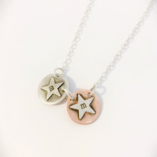 Add a Copper Star Initial Charm
