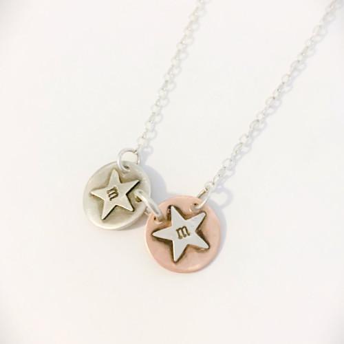 Add a Silver Star Initial Charm