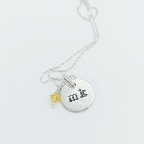 Add a Personalized Silver Initial Charm