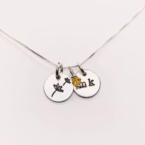 Dandelion Kid Necklace - Personalized