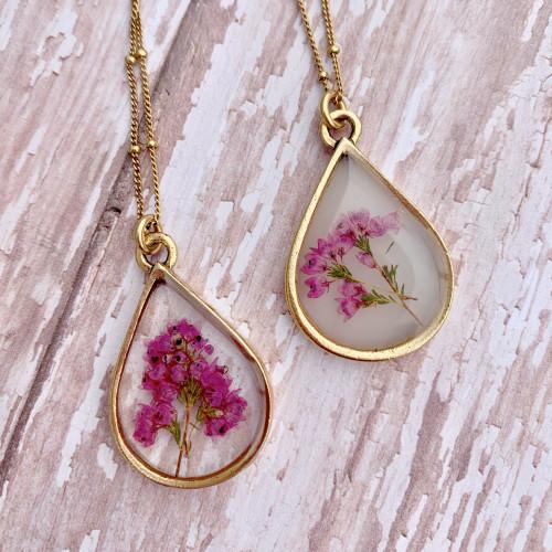 Heather Flower necklace - Antique Gold