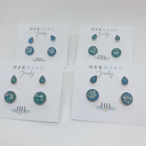 Queen Anne's Lace Stud Earring set