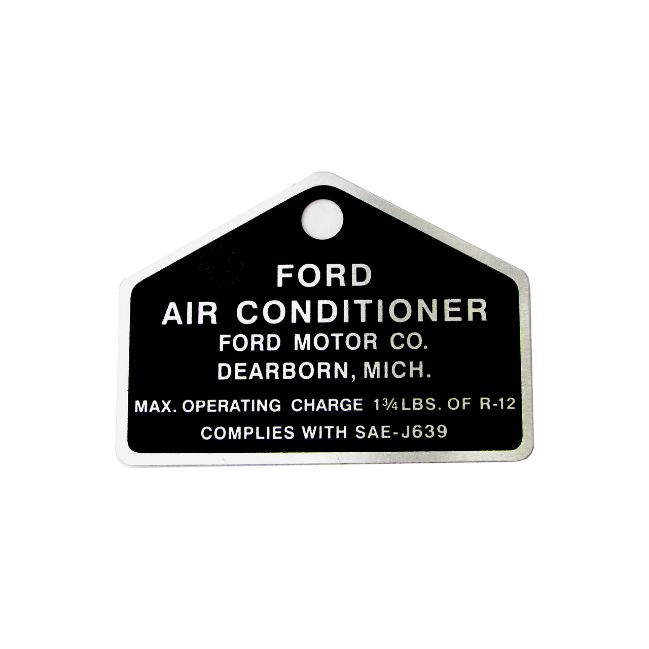 eClassics 1964-1973 Ford Mustang Ford Air Conditioning Compressor Tag