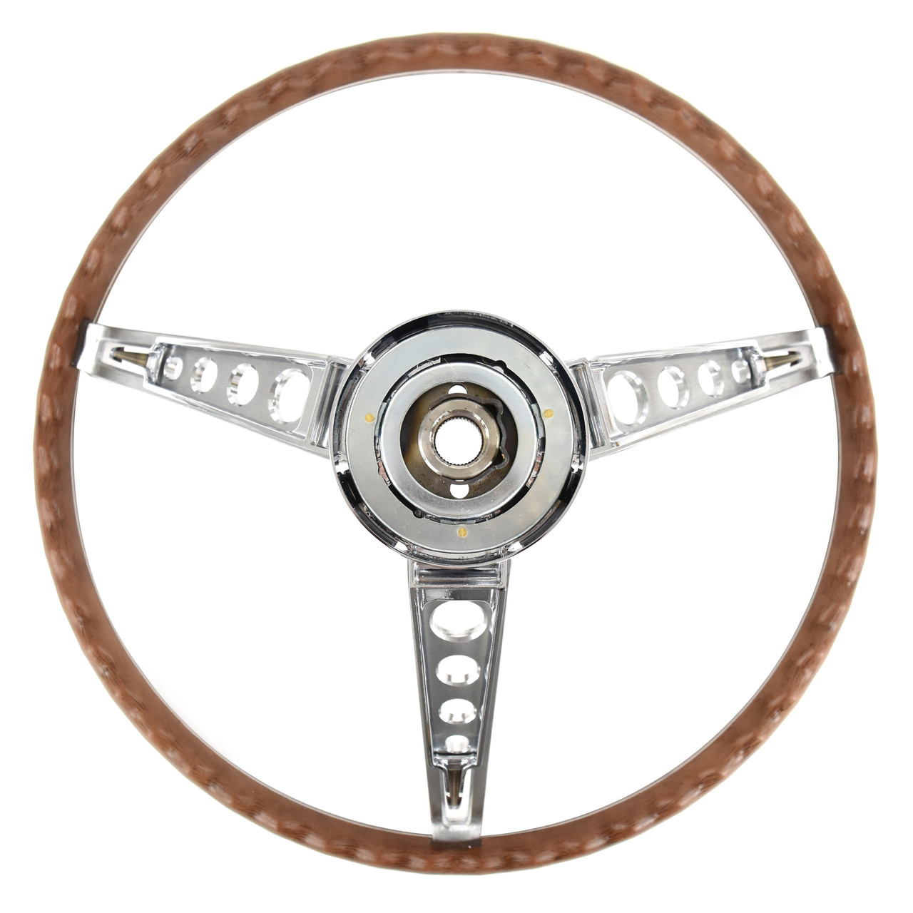 eClassics 1966 Ford Fairlane Steering Wheel Assembly Deluxe Woodgrain