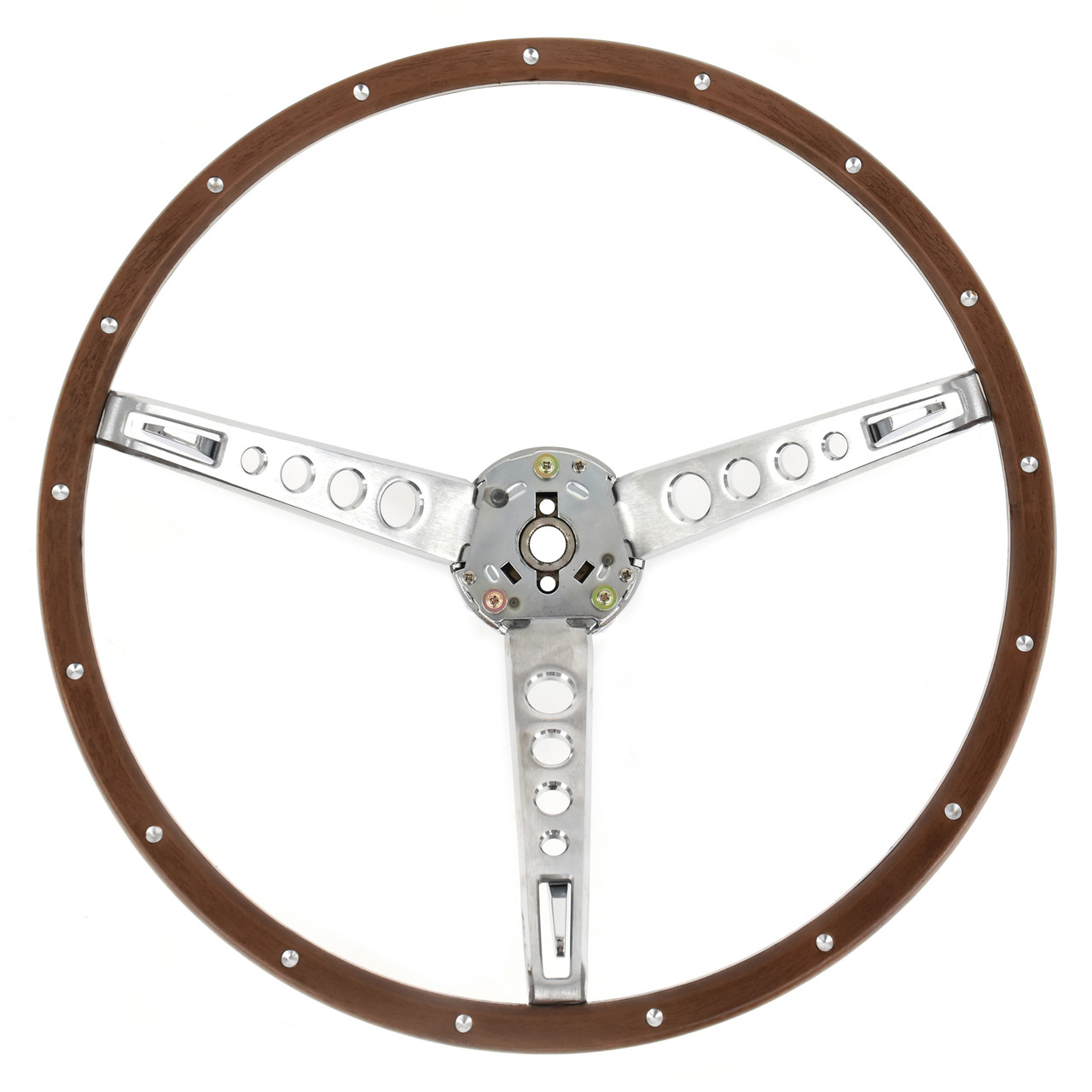 eClassics 1965-1966 Ford Mustang Steering Wheel Assembly Deluxe Woodgrain