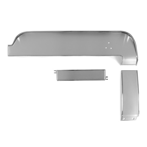 eClassics 1967 Ford Mustang Dash Trim Set Upper/Center/Lower Without Air Conditioning Aluminum