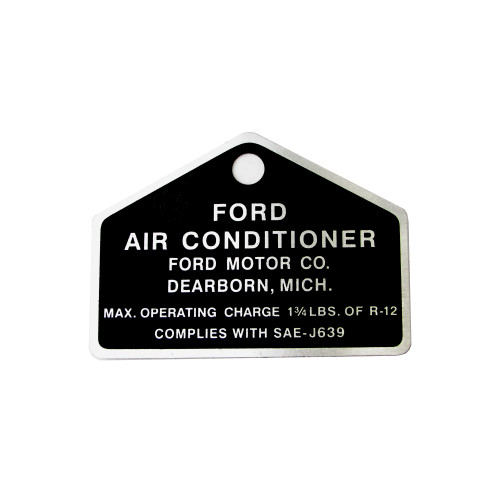 eClassics 1964-1976 Ford Custom Ford Air Conditioning Compressor Tag
