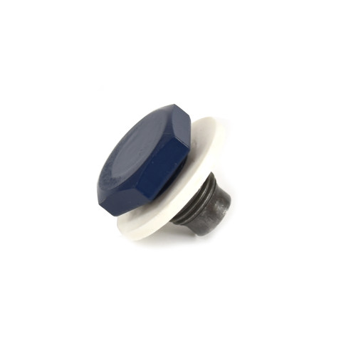 eClassics 1966-1977 Ford Bronco Oil Pan Drain Plug With Gasket Blue