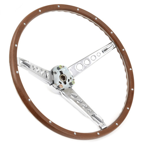 eClassics 1966 Ford Fairlane Steering Wheel Assembly Deluxe Woodgrain