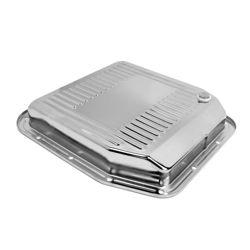 eClassics 1987-1993 Ford Mustang Transmission Pan 5.0L AOD Chrome