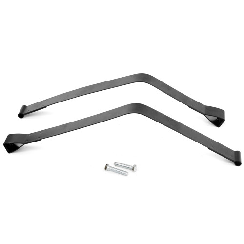 ACP FP-EG028AS 1953-1955 Ford F-250 Fuel Tank Straps For Side-Mount Tank Black Pair