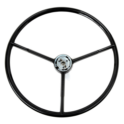 ACP FP-ES018 1966 Ford Bronco Steering Wheel 3-Spoke Black