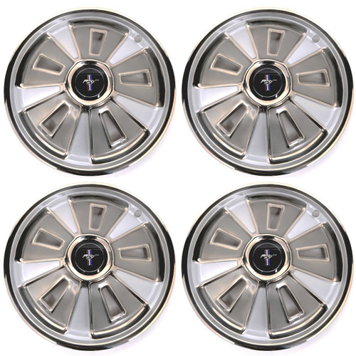 1966 Ford Mustang Wheel Cover 14 Inch With Center Cap 4 Piece Set