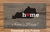 Personalized State Doormat for Grandma (no frame)