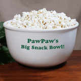 Popcorn or snack bowl personalized for a special Grandpa.