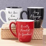 Bistro Mug for Grandma - Red, Black or White
