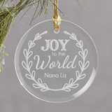 Personalized Joy to the World Ornament